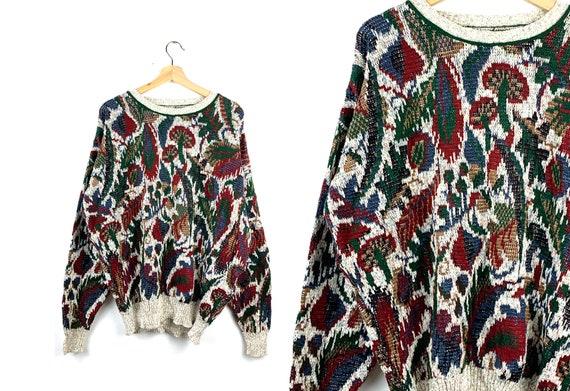 90s Vintage Oversized Sweater | Nature | Mushroom