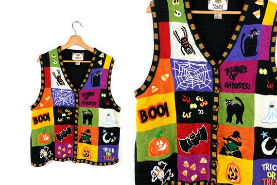 Vintage Ugly Halloween Sweater Vest
