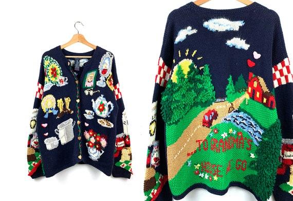 Vintage Grandma's House Novelty Sweater