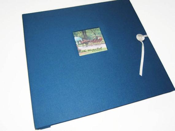 Royal Blue Scrapbook Album Blue Photo Album Royal Blue Etsy