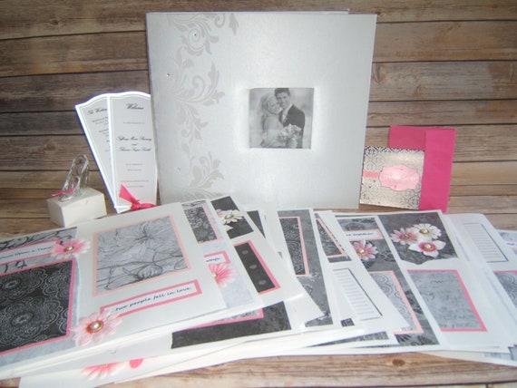 Pink Wedding Wedding Scrapbook Album Pink Wedding Photo Etsy