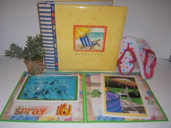 Vacation Scrapbook Album Summer Scrapbook Album Beach Etsy
