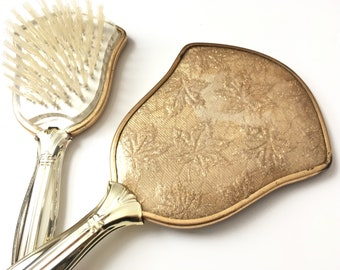 Vintage hand mirror vintage hair brush vintage vanity set vanity decor shabby