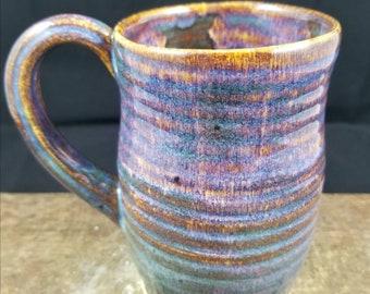 Extra Large Coffee Mug, Large Ceramic Mug, Pottery Mug, Coffee Cup,Ceramic Mug,Purple mug,blue mug,orange mug,teal mug,15 ounces,rustic mug