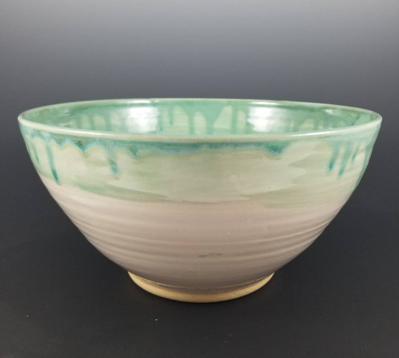 Large Pottery Bowl Ceramic Decorative Bowl Large Ceramic Serving Bowl Pasta Bowl Turquoise Pottery Bowl Blue Pottery Bowl Pottery Bowl