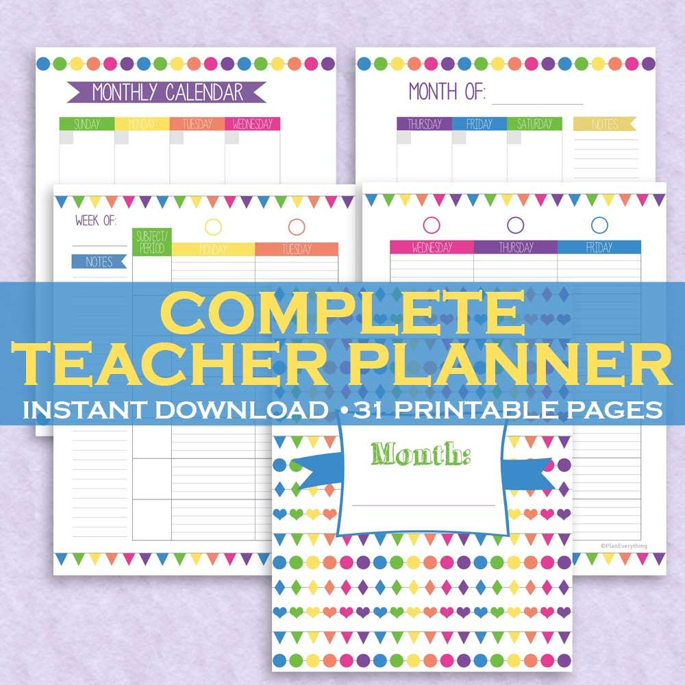 graphic about Cute Planners and Organizers identify Trainer Planner, Trainer Organizer, Clroom Planner, Cl Organizer 31 Printable Web pages! Letter Sizing