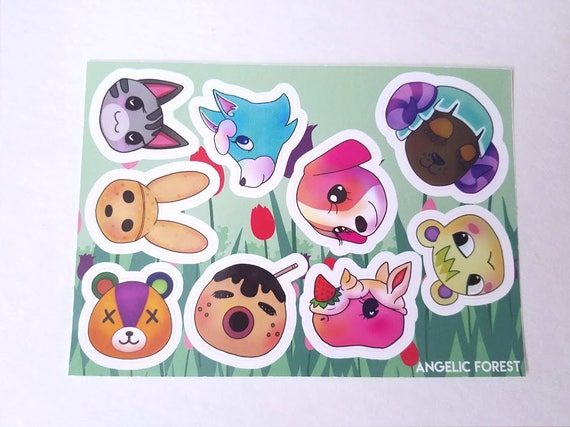 animal crossing villager sticker sheet acnl dreamies coco etsy