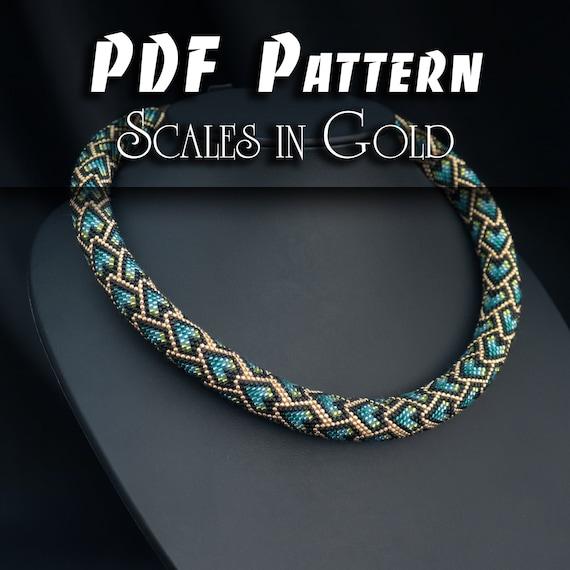 Green DIY Seed Bead Crochet Art Project Multicolour Handmade Rope Jewelry Beadweaving Crafter Gift Size A Toho15 Bead Crochet Thread