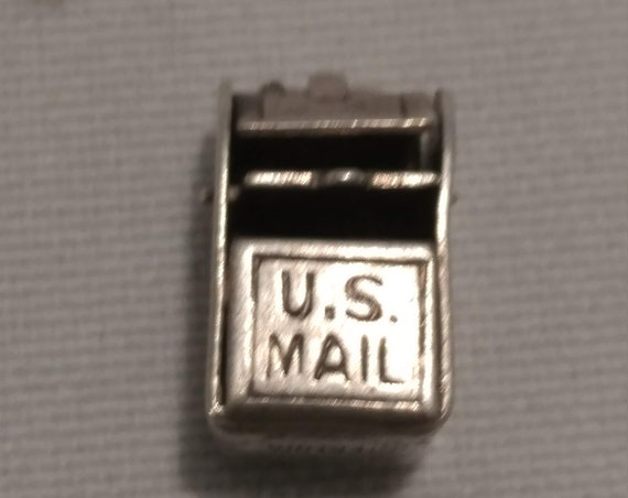 FREE SHIPPING- Mexican Sterling Silver Charm for Charm Bracelet: Moving U.S. Mail Post Box