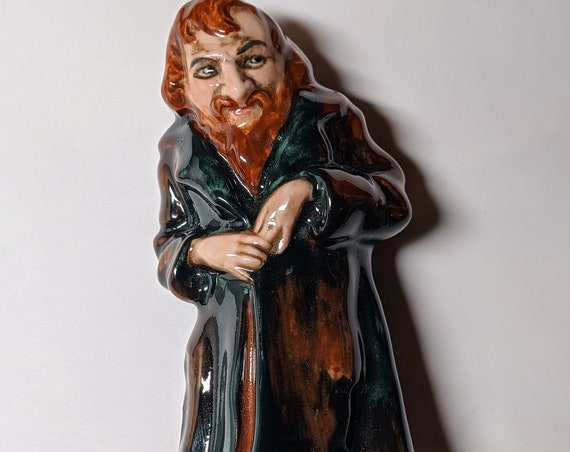 """FREE SHIPPING- Vintage Royal Doulton Porcelain Figurines- Charles Dickens Characters- Fagin- Sized 4"""" Tall . Green Hallmark on Base"""