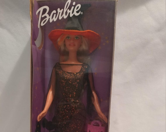 FREE SHIPPING- Mattel Enchanted Halloween Barbie Doll. # 29818. New in Box. Never Opened.