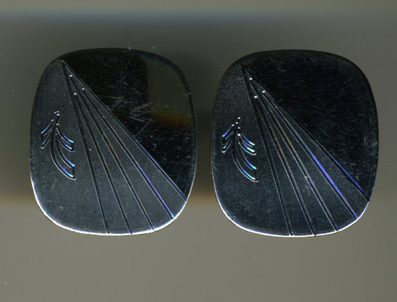 Vintage-Sterling Silver-Hallmarked-By Mr. X-MOD Design-Cuff Links-Cufflinks