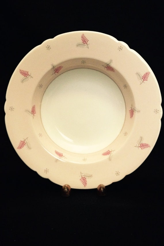 "FREE SHIPPING-Shelley-Pattern Lyric-Made England-Fine Bone China-8""-Rimmed-Soup Bowl"