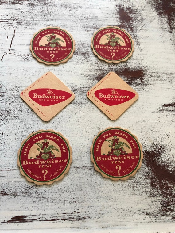 FREE SHIPPING-Budweiser Coasters