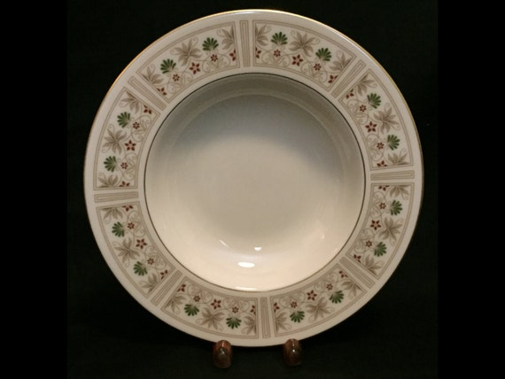 "FREE SHIPPING-Fabulous-Lenox-Tableau-Made USA-8 3/8""-Rimmed Soup Bowl"