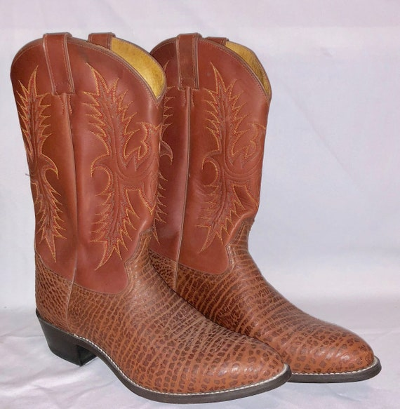 Vintage-Tony Lama-Made Mexico-Leather-Mens-Size 13 R-Never Worn