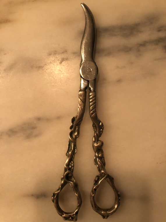 FREE SHIPPING-Sterling Silver Grape Shears-Scissors