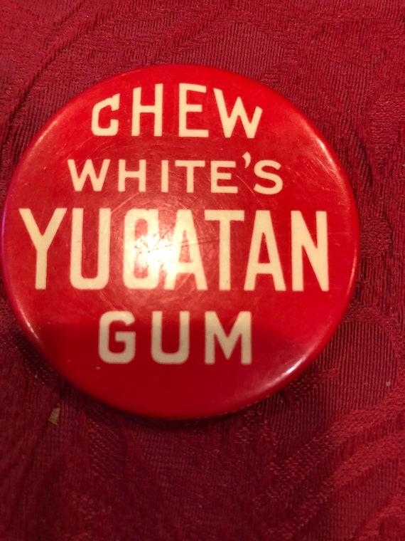 FREE SHIPPING-Whites Yucatan Gum-Pocket Mirror-Button