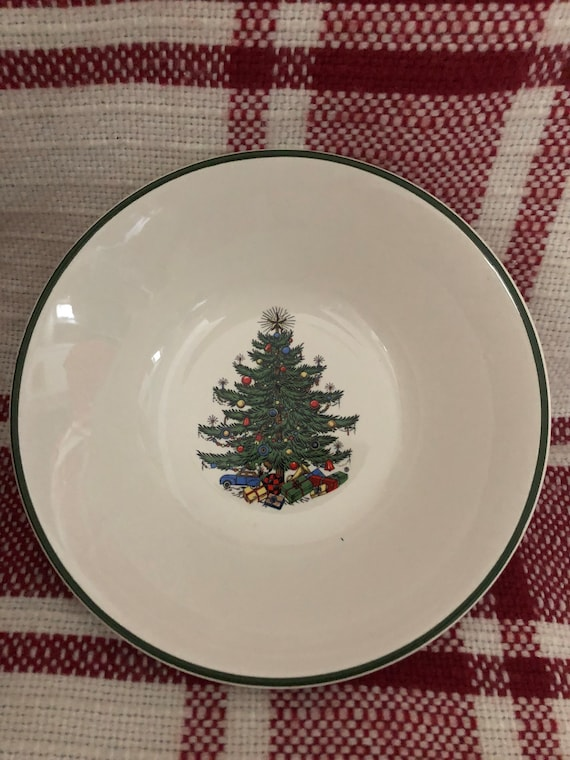 FREE SHIPPING-Cuthbertson-English-Original Christmas Tree-6 1/4 Inch Bowl