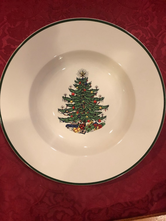 FREE SHIPPING-Cuthbertson-Original Christmas Tree-Rimmed Soup Bowl