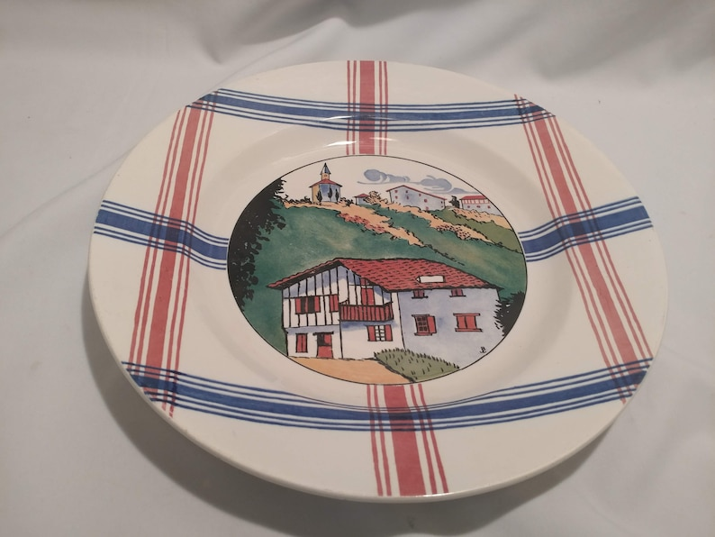Cambo Chop Plate French Depose Ramuntcho Faienceries de Sarreguemines. FREE SHIPPING
