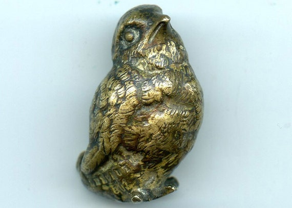 FREE SHIPPING-Antique-Franz Bergmann & Geschutzt-Austurian-Bronze-Miniature-Bird-Quail-Pegion