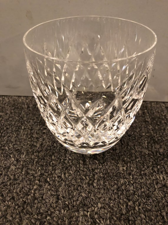 FREE SHIPPING-Waterford-Boyce- 3 1/4 Inch-Cut Crystal-Old fashioned-Signed Tumbler