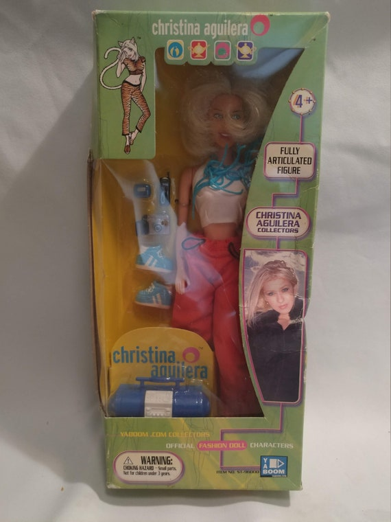 FREE SHIPPING- 1999- Yaboom.com Official Christina Aguilera Fashion Doll. New in Box. Never Opened