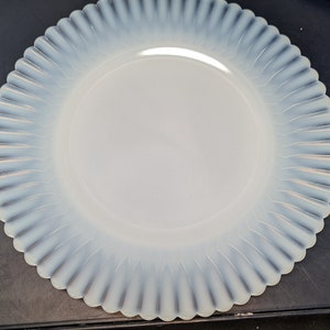 American Sweetheart Translucent Petalware Plate MacBeth Evans Monax Opalescent Milk Glass Salad Plates Opaque white glass plate replacements