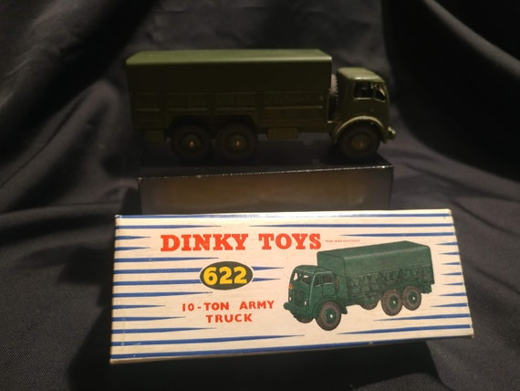 FREE SHIPPING- Vintage Dinky Supertoys Toy Car in Original Box # 622- 6 Ton Army Truck. Near Mint Condition!