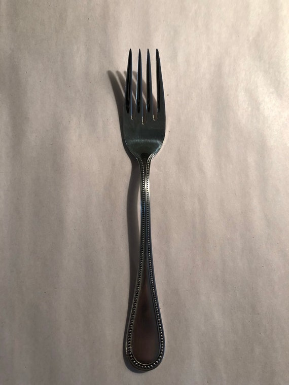 FREE SHIPPING-Towle-Stainless-Salad-Dessert-Beaded Fork