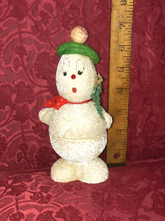 FREE SHIPPING-Vintage-US Zone Germany -Snowman Candy Container