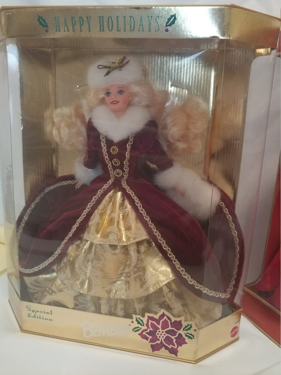 FREE SHIPPING- 1996 Special Edition Happy Holidays New In Box Barbie Doll