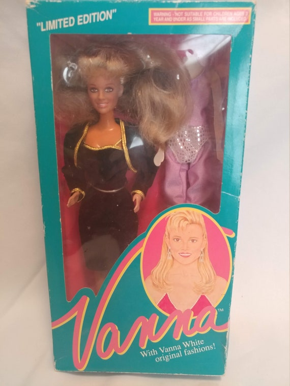 FREE SHIPPING- 1990- HSC Limited Edition Vanna White Doll in Original Box