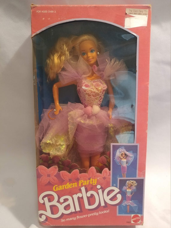FREE SHIPPING- 1988 Garden Party Barbie Doll. # 1953 New In Box