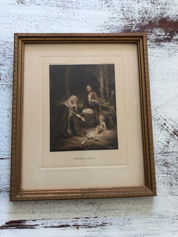 FREE SHIPPING-The Holy Family-Vintage Print