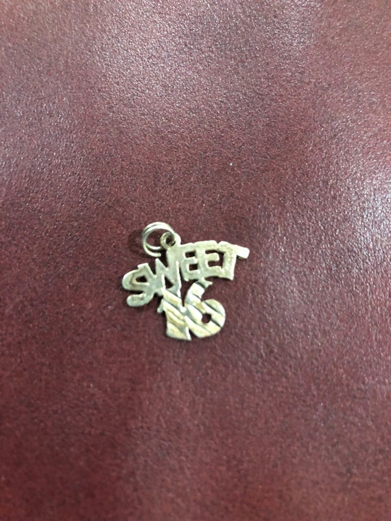 FREE SHIPPING-Sterling Silver-925-Sweet Sixteen-Vintage Charm
