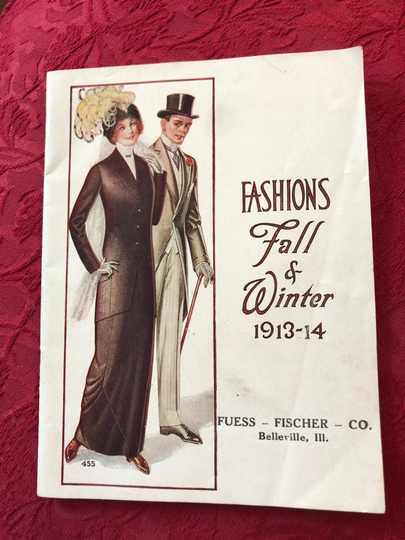 FREE SHIPPING-Fashion Fall and Winter 1913-14-Advertising Booklet