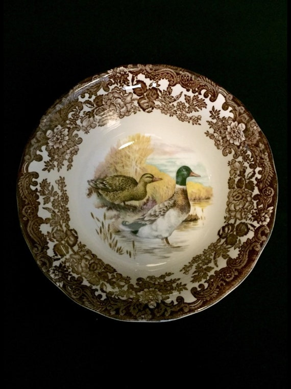 FREE SHIPPING-The Royal Worcester Group-Palissy-England-Est. 1853-Game Series-Birds-Duck-Soup-Cereal-Bowl