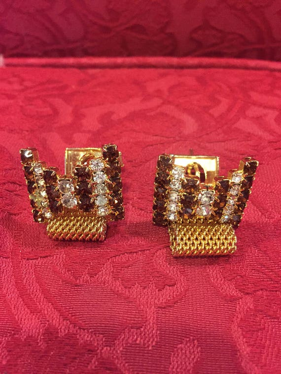 FREE SHIPPING-Vintage-Mesh-Wrap Around-Cuff Links