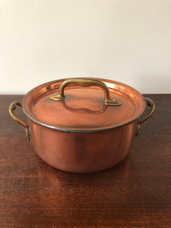 FREE SHIPPING-Belgium-Inocuivre-Copper Pot/lid
