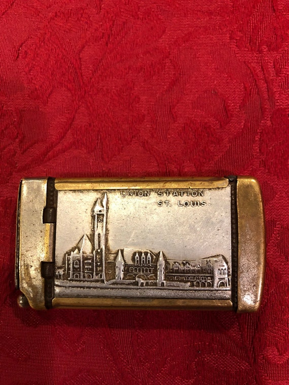 FREE SHIPPING-1904 Worlds Fair-Match Safe-Striker-Cutter-Vesta