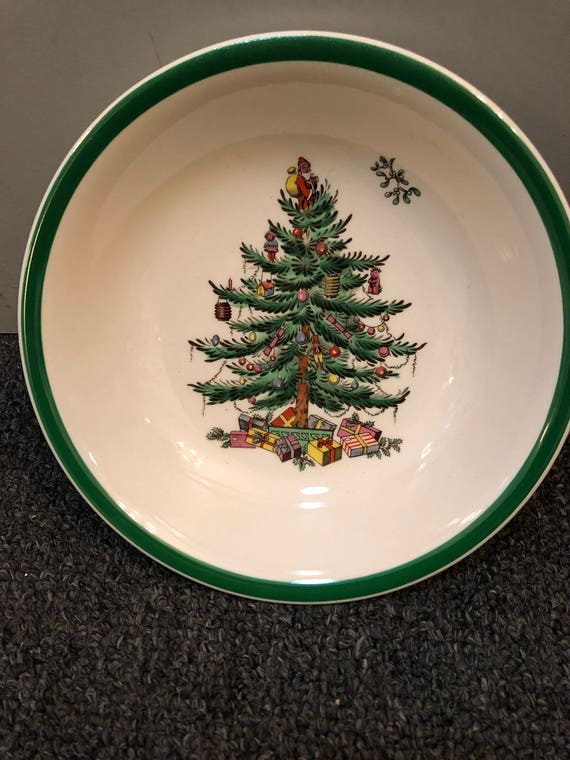 FREE SHIPPING-Spode-Christmas Tree-England-6 1/4 inch-Bowl