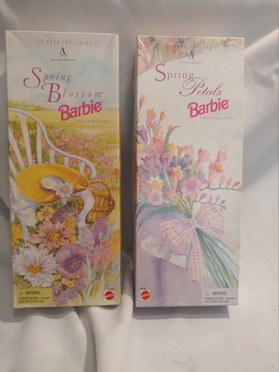 FREE SHIPPING-Set of 2- Avon Exclusive Barbie Dolls. Special Edition Spring Series.