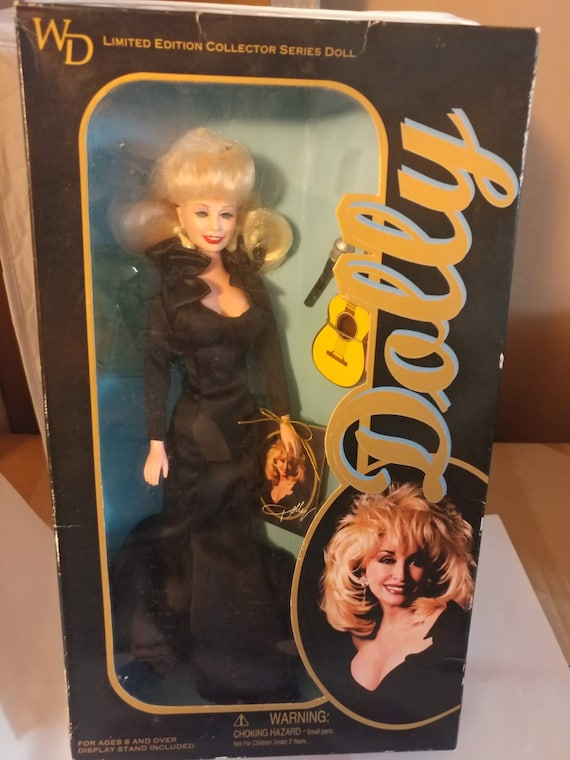 """FREE SHIPPING- Vintage 12"""" Limited Edition Goldberger Dolly Parton Doll with Guitar & Accessories. New in Box. Never Opened!"""