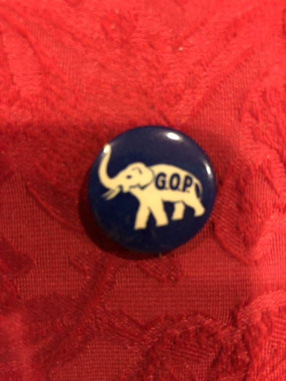 FREE SHIPPING- G.O.P.-Celluloid-Political Button-Pin