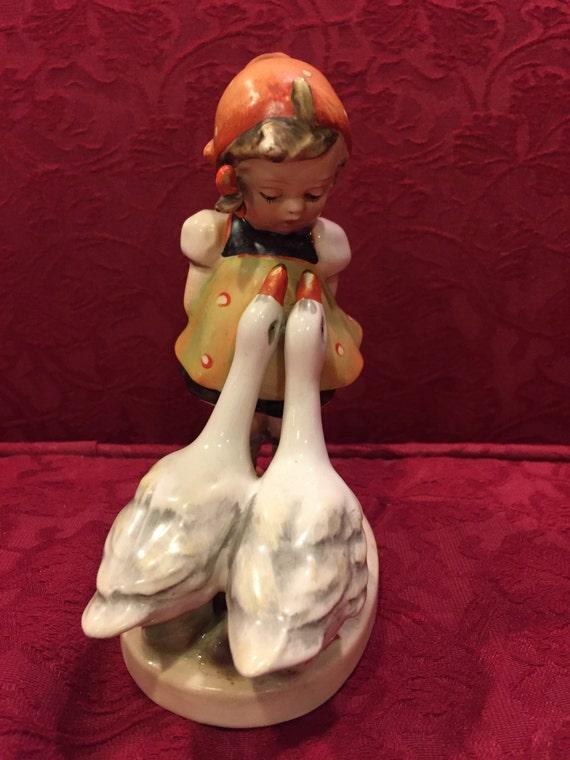 FREE SHIPPING-Hummel-#47-TMK First Inciesed- Crown Mark-Goose Girl