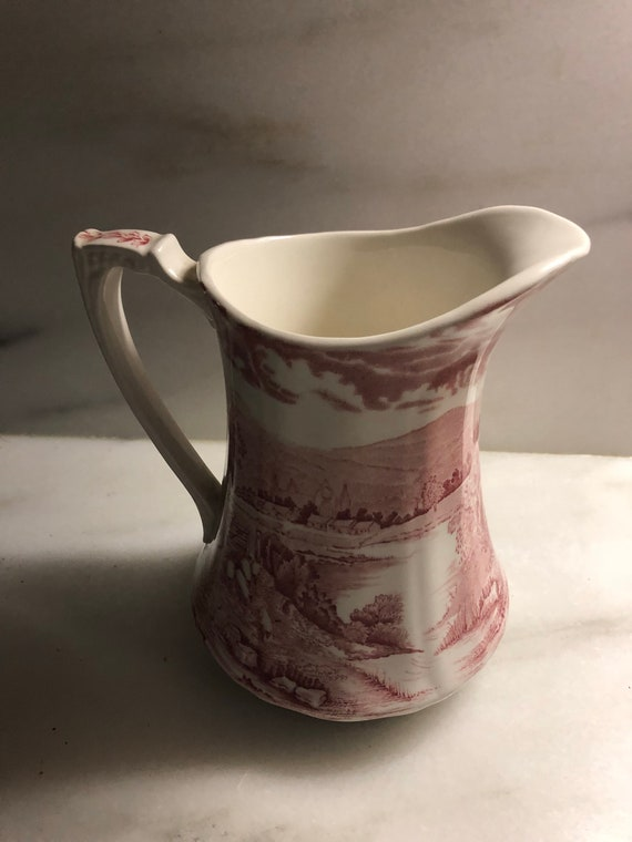 FREE SHIPPING- Alfred Meakin-Tintern-Red Scenic Pitcher