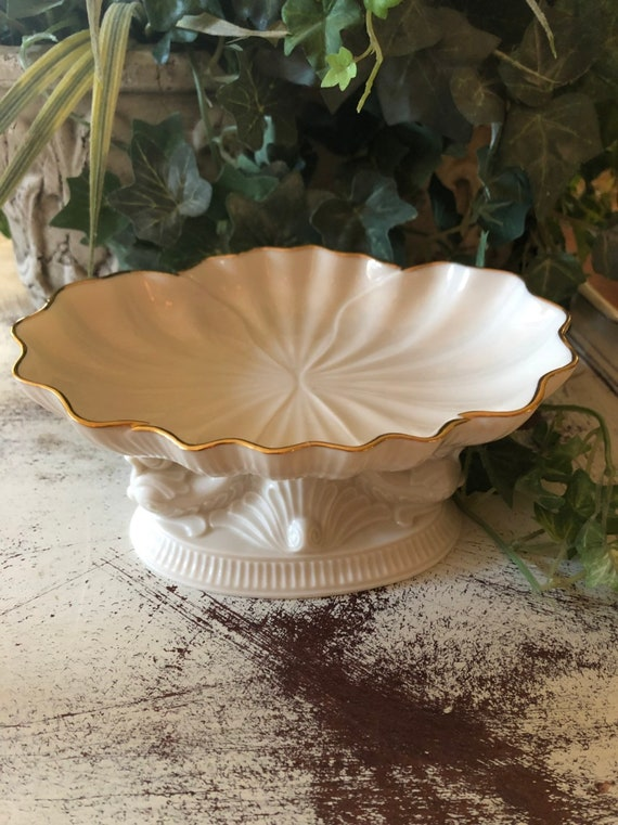 FREE SHIPPING-Lenox-USA-1870s Mermaid Collection -Dolphin pedestal-Soap Dish