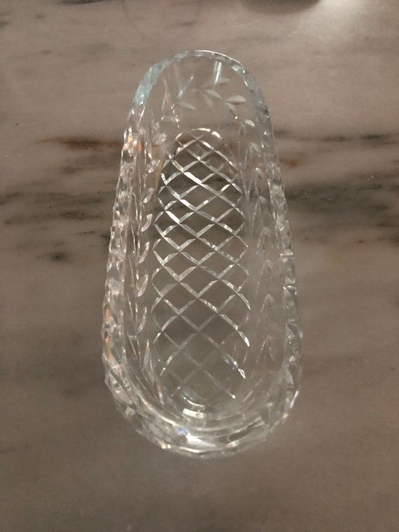FREE  SHIPPING-Waterford-9.5 Inch-Crystal-Glandor Pattern-Celery-Relish Dish